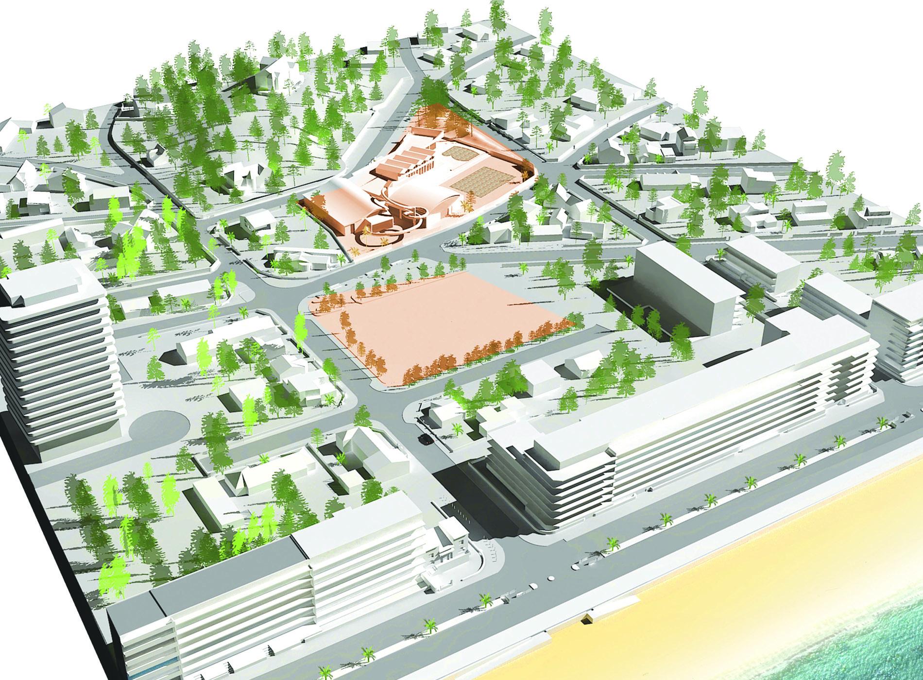 Aquabaule - Axonométrie d'ensemble 3D - Cap Urbain, agence de programmation urbaine et architecturale à Nantes